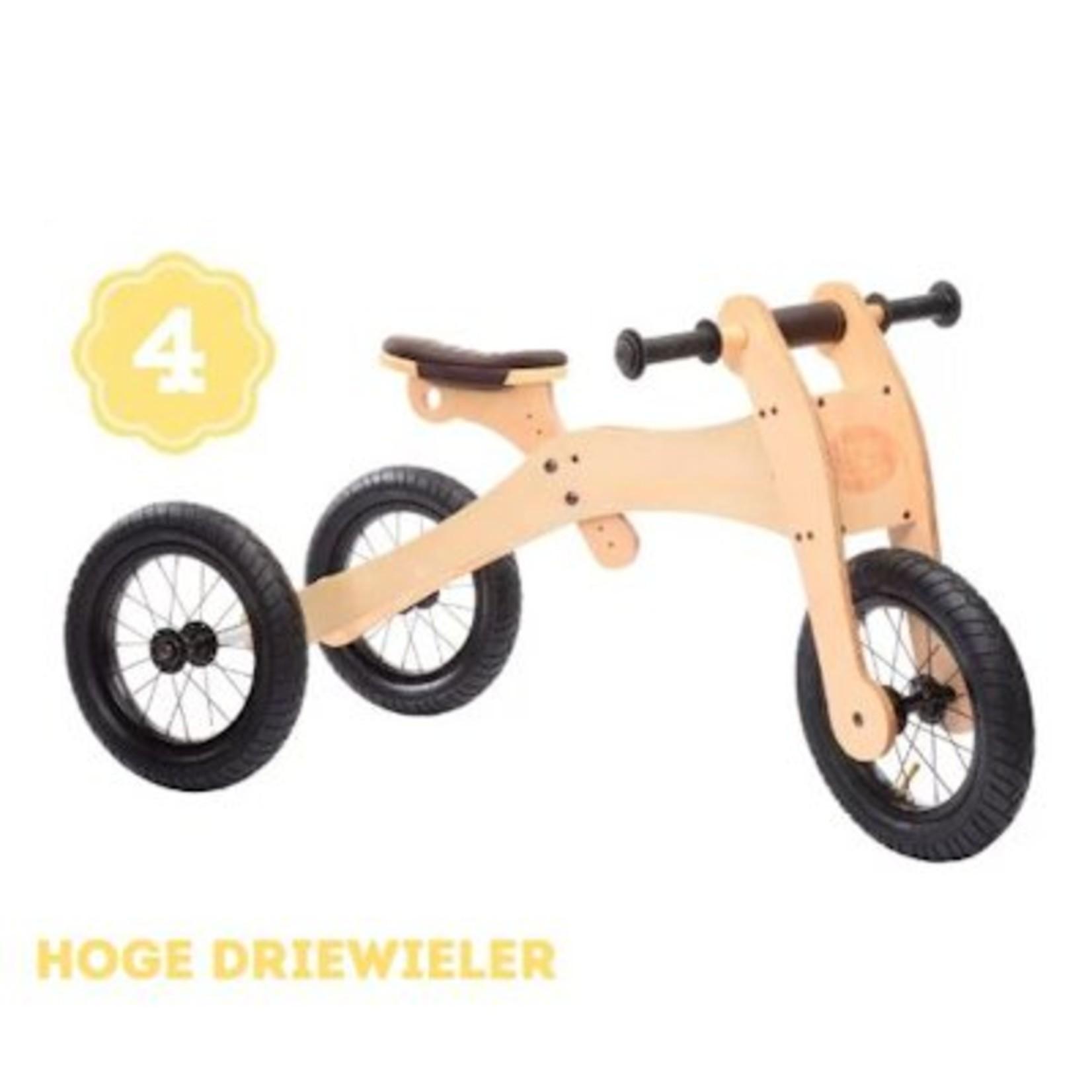 Trybike Trybike houten loopfiets 4-in-1 bruin