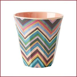Rice Rice Cup Two Tone Medium - Zig Zag Print