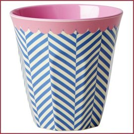 Rice Rice Cup Two Tone Medium - Sailor Stripe Print
