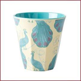 Rice Rice Cup Two Tone Medium - Peacock Print