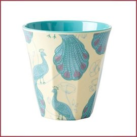 Rice Rice Two Tone Cup Peacock Print Medium