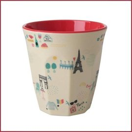 Rice Rice Two Tone Cup Paris Print Medium