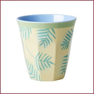 Rice Rice Cup Two Tone Medium - Palm Leaves