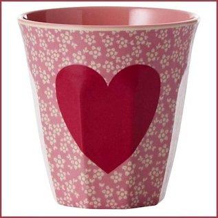 Rice Rice Cup Two Tone Medium - Heart Print