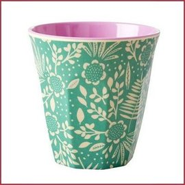 Rice Rice Cup Two Tone Medium - Fern and Flower Print