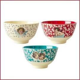 Rice Rice Melamine Bowl Small Christmas Print