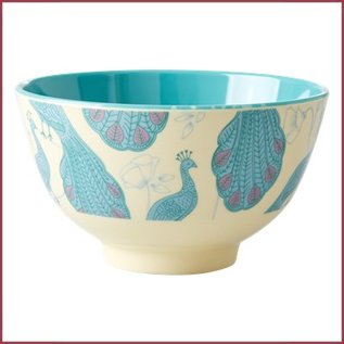 Rice Rice Bowl Two Tone Small - Peacock Print
