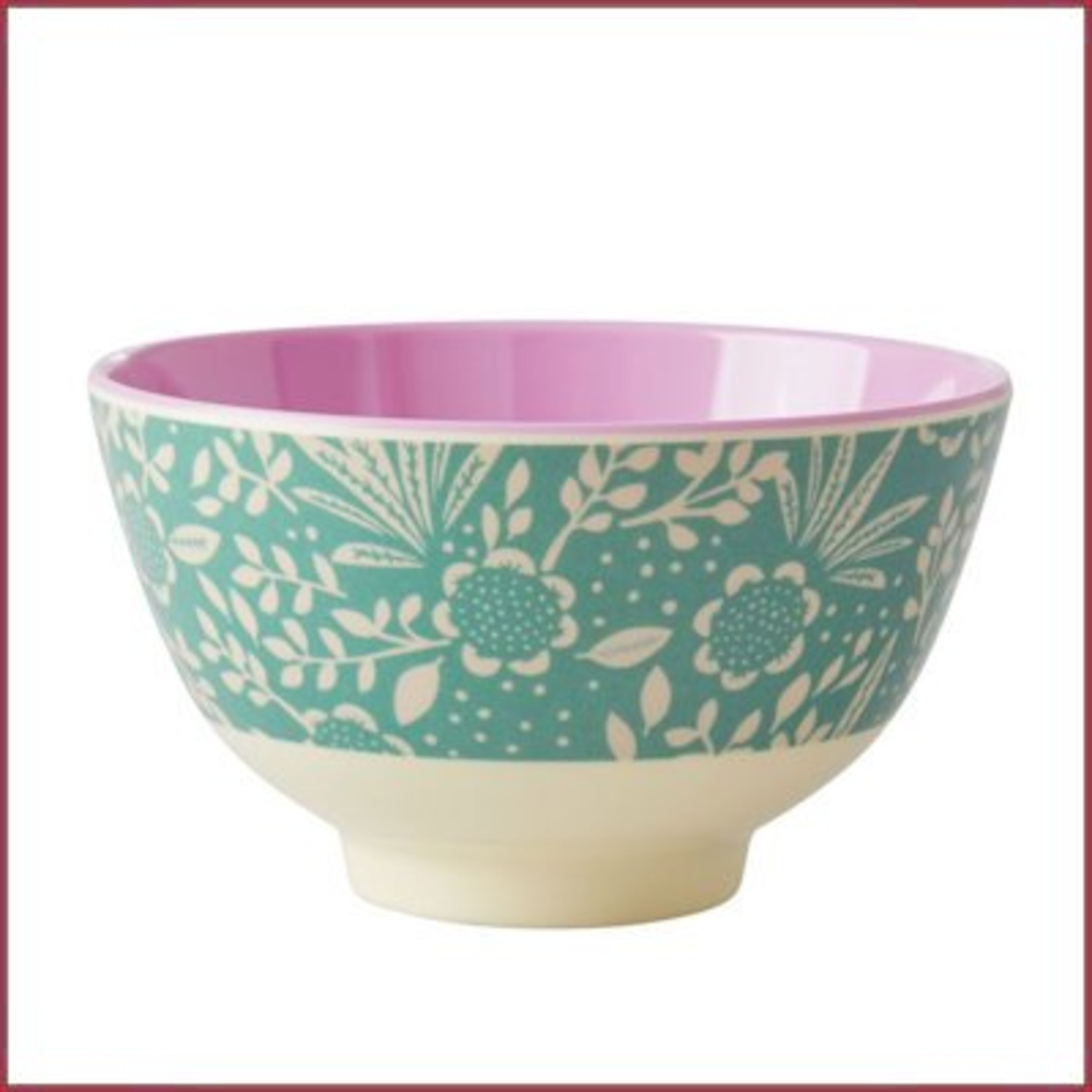 Rice Rice Bowl Two Tone Small - Fern & Flower Print