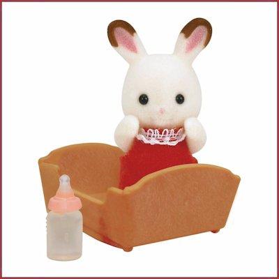 Image of: Cute Sylvanian Families Chocolate Rabbit Baby Baboffel Chocolate Rabbit Baby Baboffel De Kinder En Speelgoedwinkel