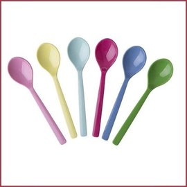 Rice Melamine Teaspoons Classic ass.in 6 kleuren