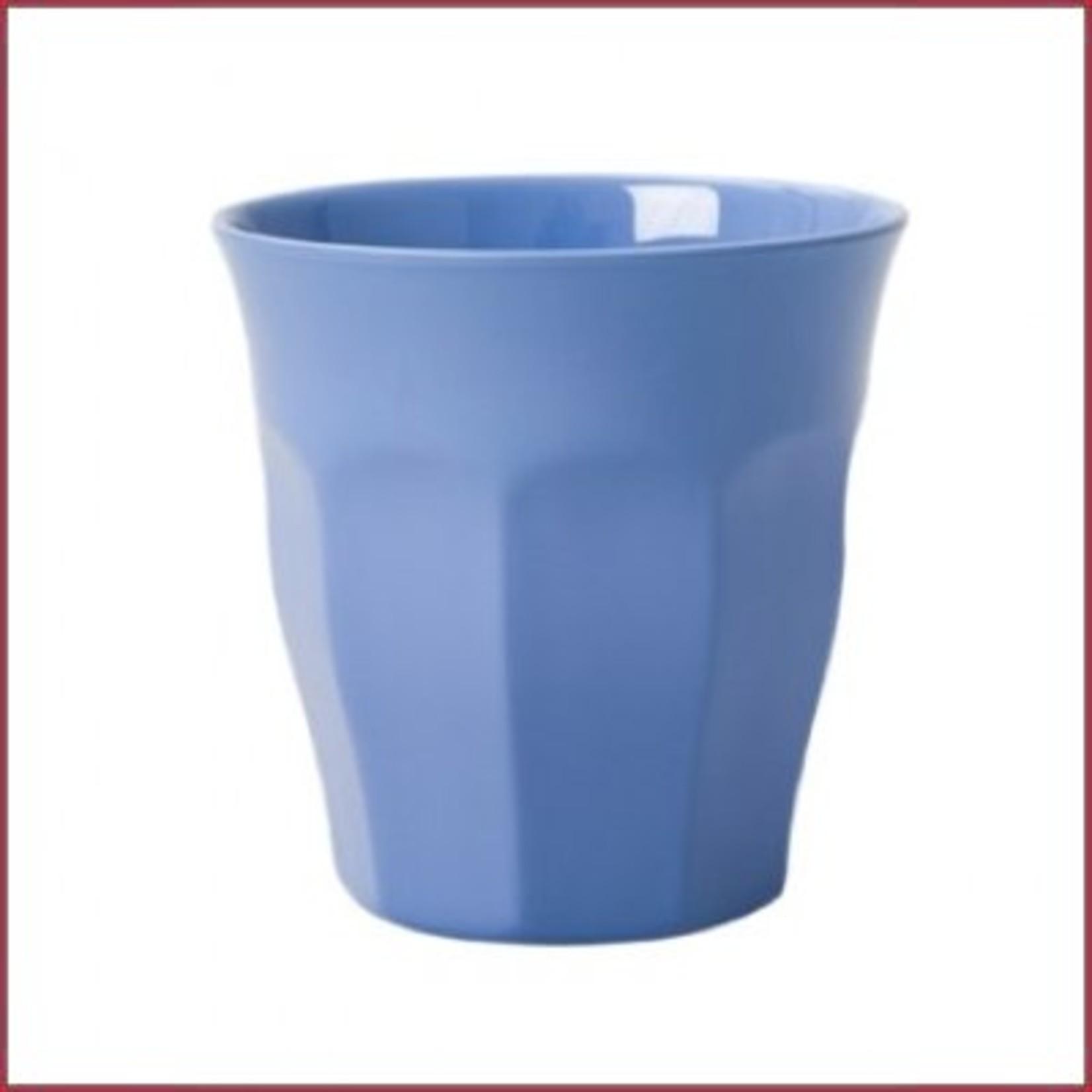 Rice Rice Melamine beker medium Uni Kleur - New Dusty Blue