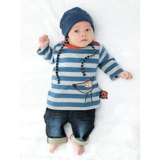 Sigikid Shirt lange mouw blauw/grijs