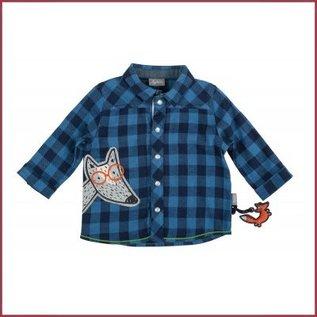 Sigikid Overhemd blauw geblokt