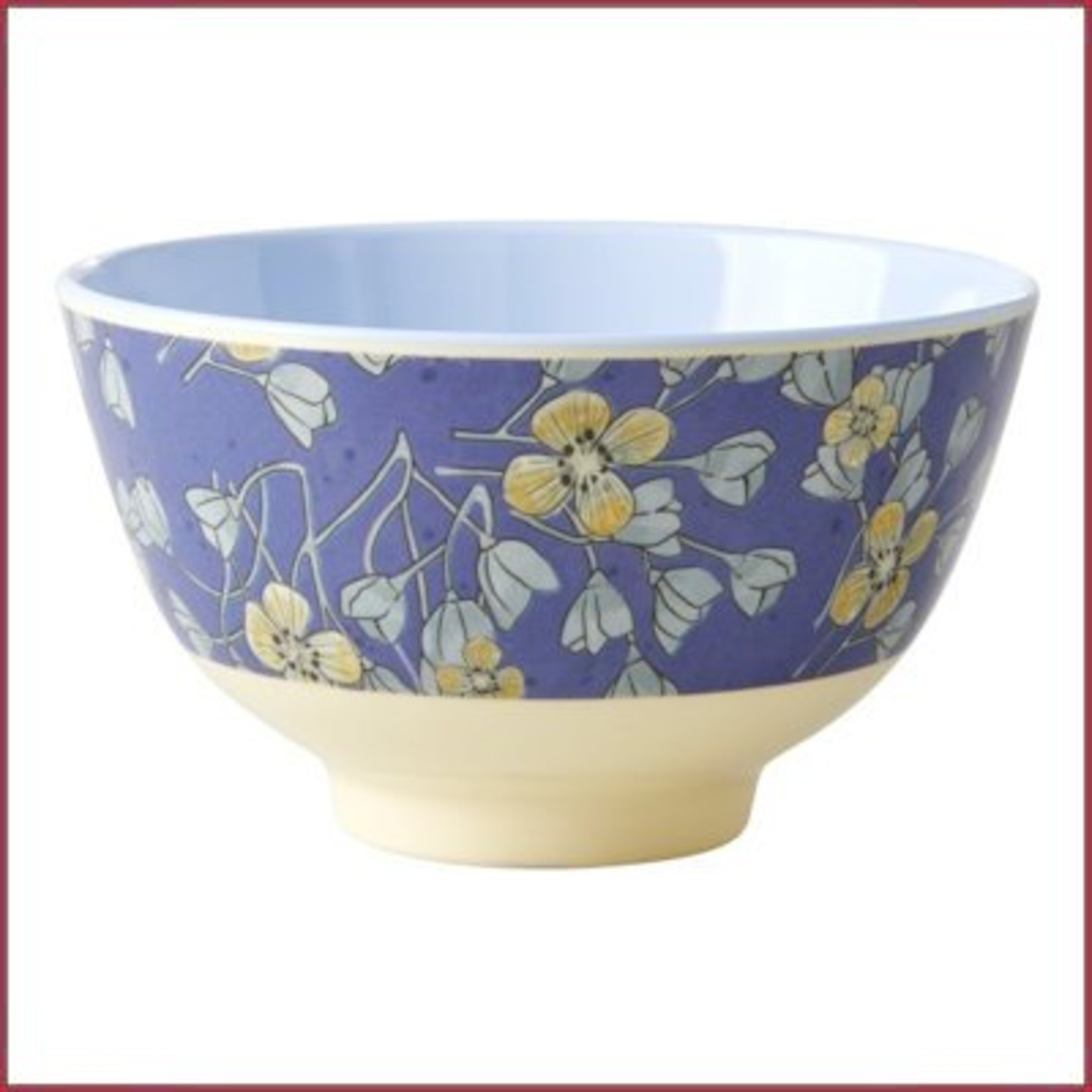 Rice Rice Bowl Two Tone Hanging Flowers Print- Small
