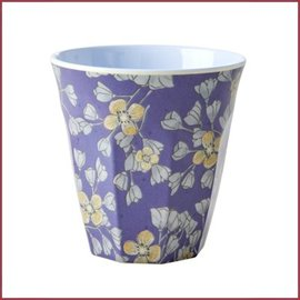 Rice Rice Cup Two Tone Medium - Hanging Flowers Print