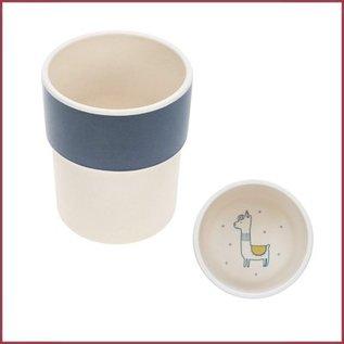 Lässig 4Babies Bamboo mug Glama Lama blue