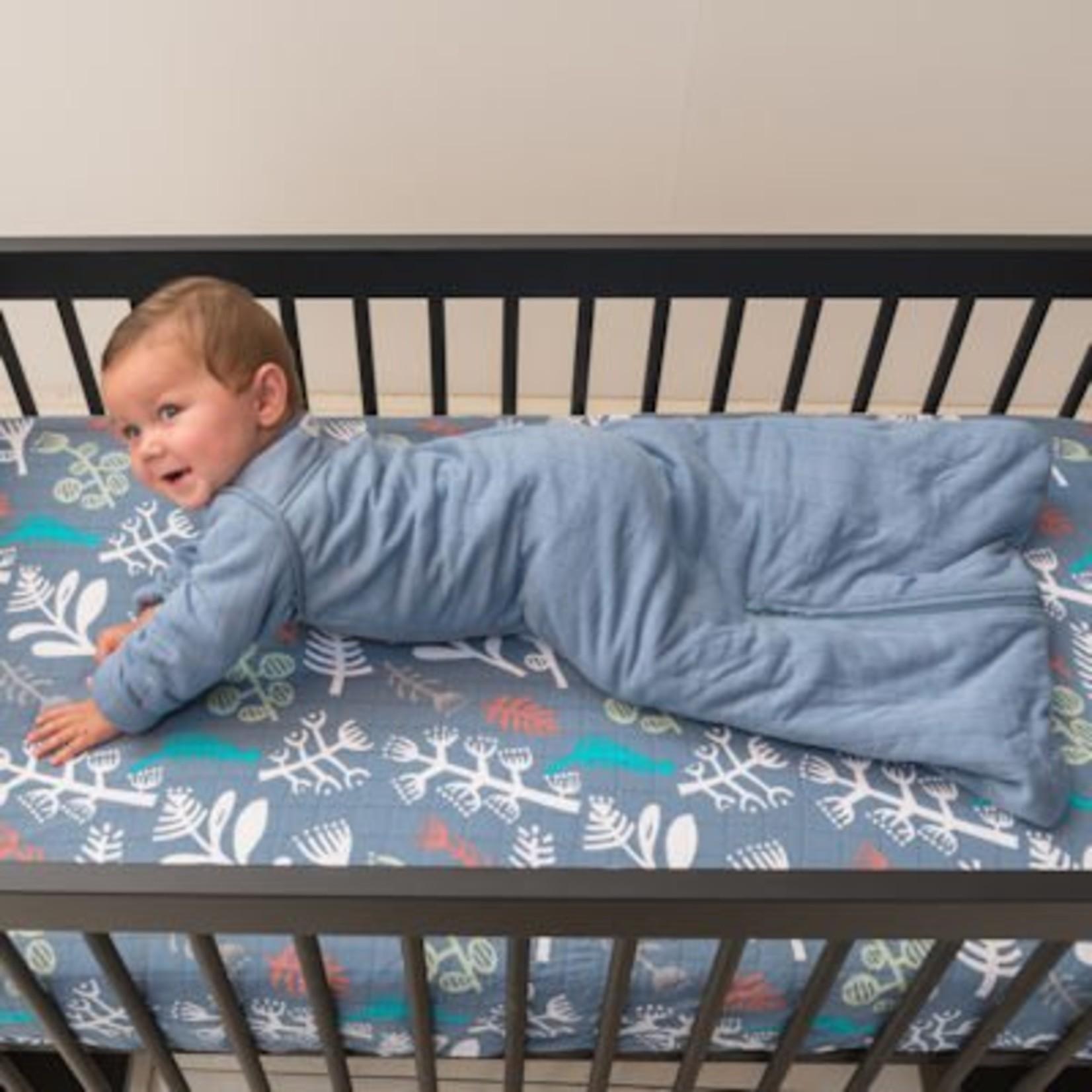 Lodger 4 Seizoenen slaapzak baby (winter met mouwen)  Solid Ocean 86/98