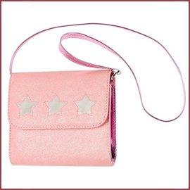 Souza for kids Tas Julide l.roze glitter + zilver sterretjes