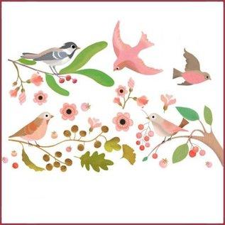 Djeco Raamstickers Romantische Vogels