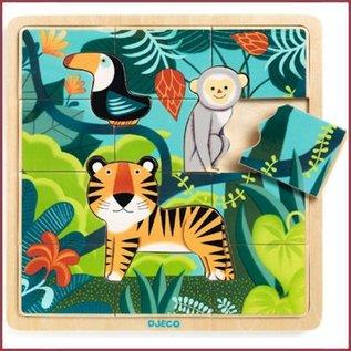 Djeco Houten Puzzel de Jungle
