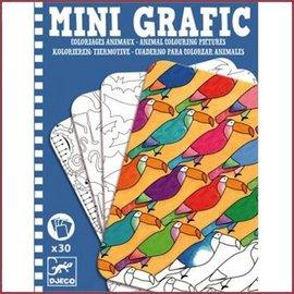 Djeco Mini Grafic, kleur de dieren