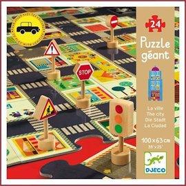 Djeco Giant Puzzel De Stad 24 stukjes