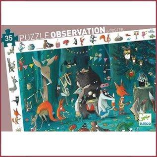 Djeco Observatiepuzzel Het Orkest 35 stukjes