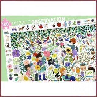Djeco Observatiepuzzel 1000 Bloemen 100 stukjes