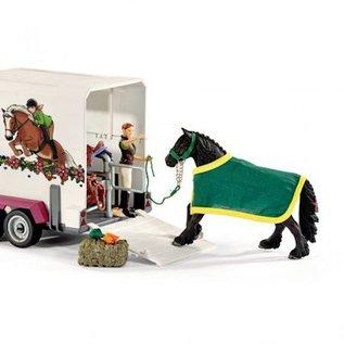 Schleich Pick-Up met paardenaanhanger Schleich