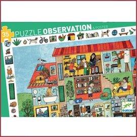 Djeco Observatie Puzzel Het huis
