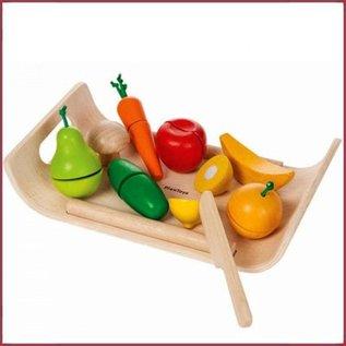 Plantoys Groente en Fruit gemengd snijsetje
