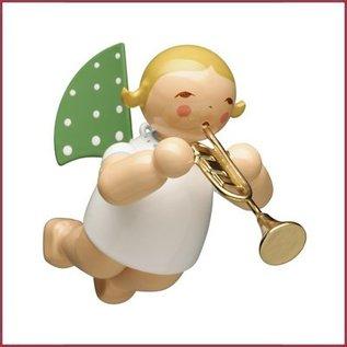 Wendt & Kühn Zwevende Grunhainichense Engel met Trompet Blond