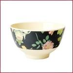 Rice Rice Bowl Small met Dark Rose Print