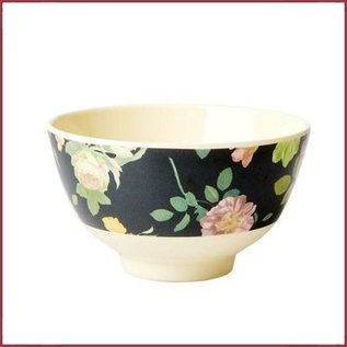 Rice Rice Bowl Small met Dark Rose Print