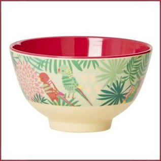 Rice Rice Bowl Small met  Tropical Print - Two Tone