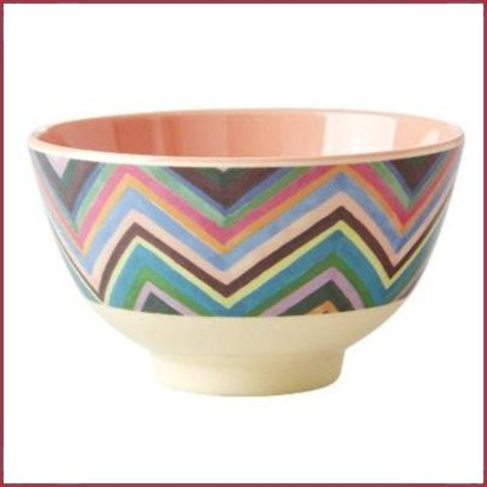 Rice Rice Bowl Small met ZIg Zag Print Two Tone
