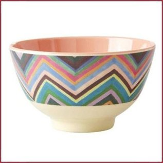 Rice Rice Bowl Small met ZIg Zag Print Two Tone
