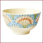 Rice Rice Bowl Small met Flower Fan Print