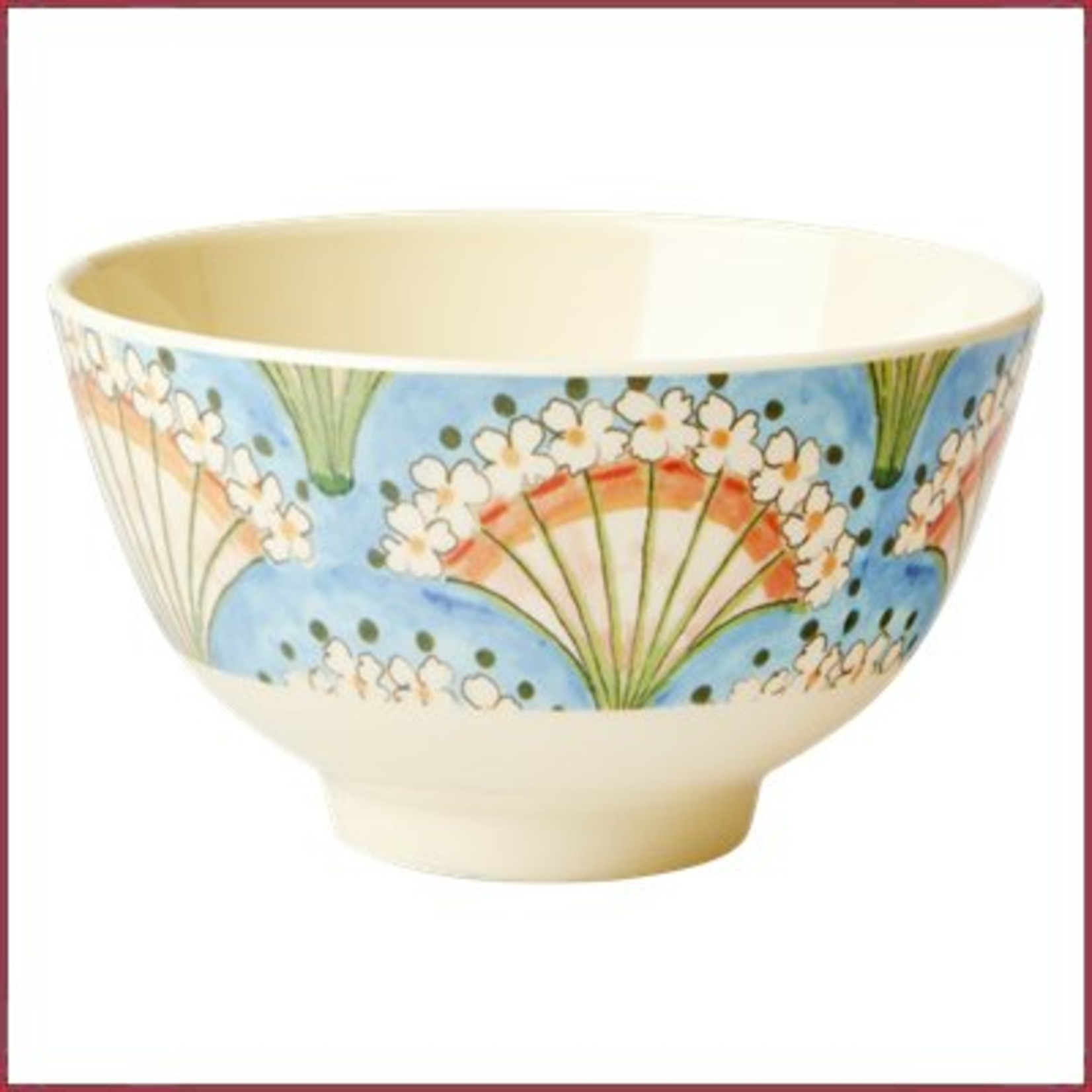 Rice Rice Bowl Small met Flower Fan Print