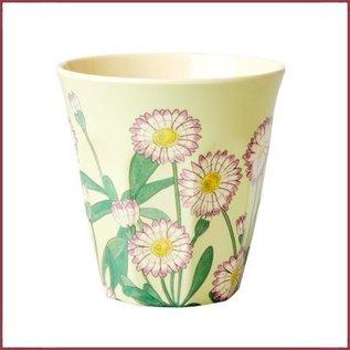 Rice Rice Melamine Cup - Daisy Print - Medium