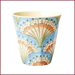Rice Rice Cup Medium met Flower Fan Print