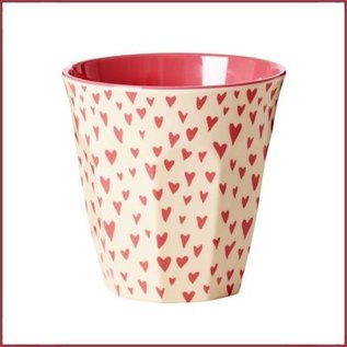 Rice Rice Cup Medium met Small Hearts Print