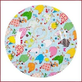 Rice Rice  Side Plate met Hen Print - Two Tone
