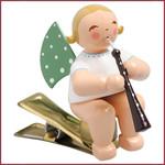 Wendt & Kühn Kerstboomknijpertje Grunhainichense Engel met althobo