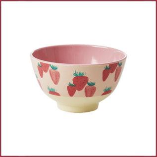 Rice Rice Bowl Small - Aardbeien Print