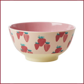 Rice Rice Bowl Two Tone Medium - Aardbeien Print