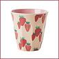 Rice Rice Cup Medium - Aardbeien Print