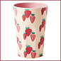 Rice Rice Cup Tall - Aardbeien Print