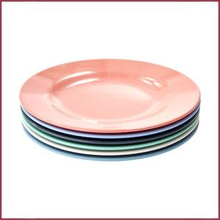 Rice Rice Side Plate 6 diverse kleuren - Happy 21st