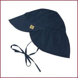 Lässig Zonnehoedje met flap, Navy blauw